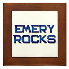 emery rocks Framed Tile