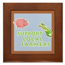 Support Local Farmers Framed Tile