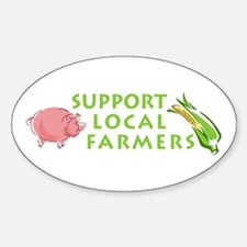 Support Local Farmers Oval Decal