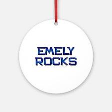 emely rocks Ornament (Round)