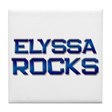 elyssa rocks Tile Coaster