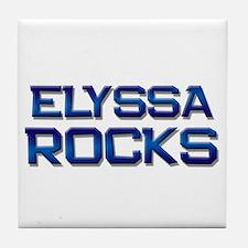 elyssa rocks Tile Coaster