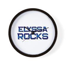elyssa rocks Wall Clock