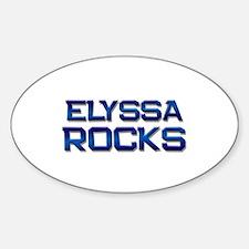 elyssa rocks Oval Decal