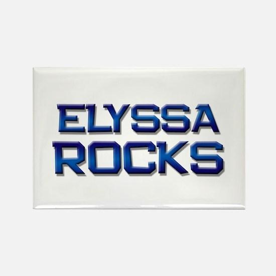 elyssa rocks Rectangle Magnet