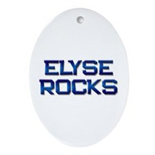 elyse rocks Oval Ornament