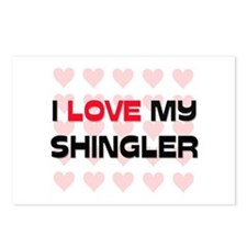 I Love My Shingler Postcards (Package of 8)