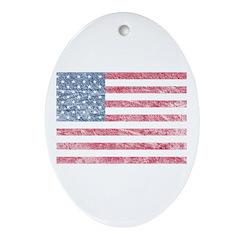 American Flag US Flag Patriot Oval Ornament
