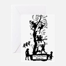 Cute Black family reunion Greeting Card
