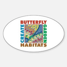 Butterfly Garden Oval Decal