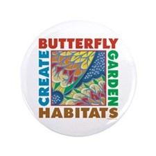 """Butterfly Garden 3.5"""" Button (100 pack)"""