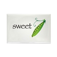 Sweet Pea Simple Rectangle Magnet