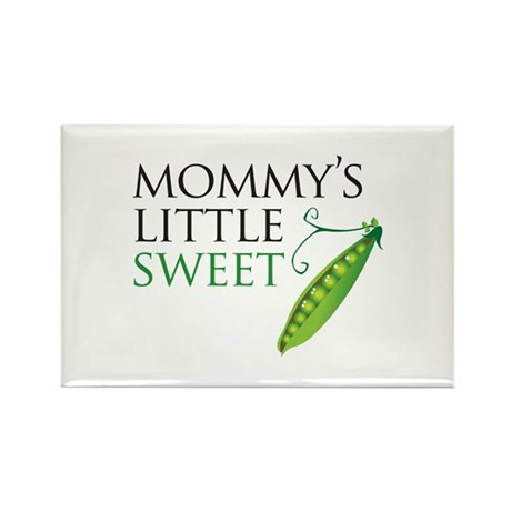 Mommy's Little Sweet Pea Rectangle Magnet