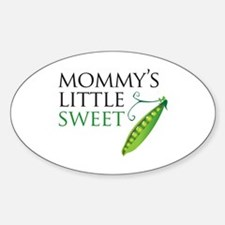 Mommy's Little Sweet Pea Oval Decal