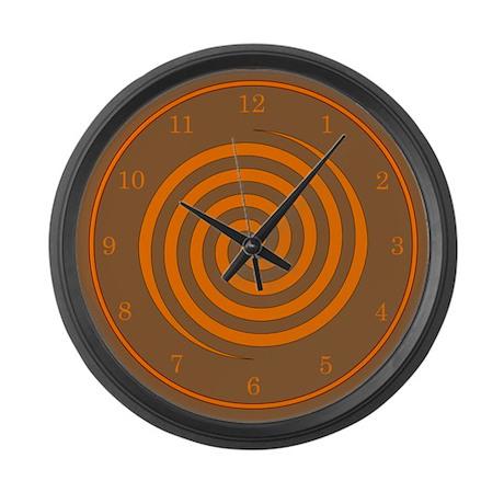 Brown and Orange Large Wall Clock