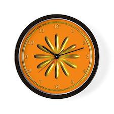 Orange and Gold Wall Clock