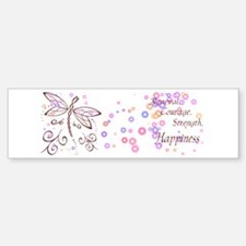 Dragonfly Daydream Bumper Bumper Sticker