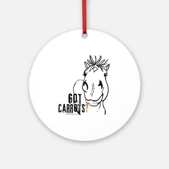 Funny Horse Ornament (Round)