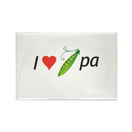I love my pee-pa (grandpa) Rectangle Magnet