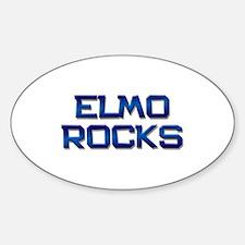 elmo rocks Oval Decal