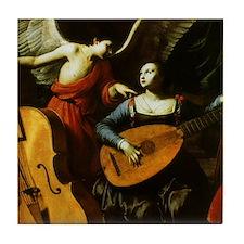 Saint Cecilia and Angel, Saraceni Tile Coaster