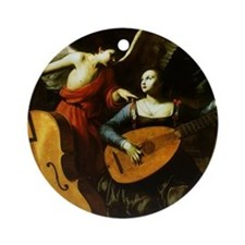 Saint Cecilia and Angel, Saraceni Ornament (Round)