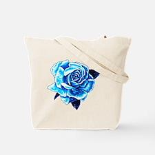 Mom's Blue Rose Tote Bag