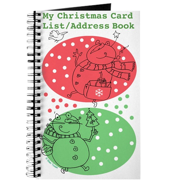 Christmas Card List/Address Book By Stantoon