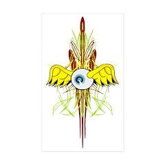 Flying Eye Rectangle Sticker 50 pk)
