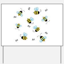 Buzzing Bees Yard Sign