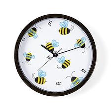 Buzzing Bees Wall Clock