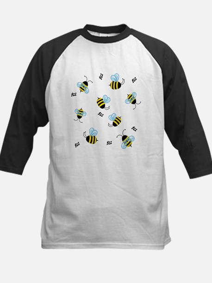 Buzzing Bees Kids Baseball Jersey
