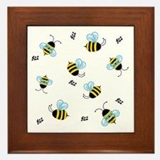 Buzzing Bees Framed Tile