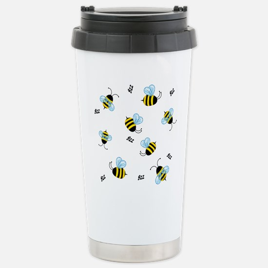 Buzzing Bees Stainless Steel Travel Mug