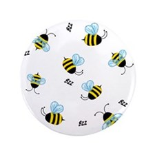 "Buzzing Bees 3.5"" Button"