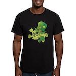 Skull & Shamrocks Men's Fitted T-Shirt (dark)
