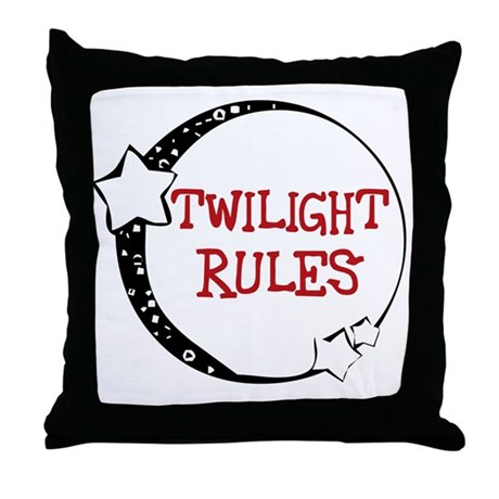 Twilight Rules Throw Pillow