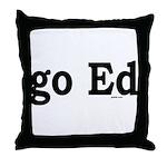 go Ed Throw Pillow