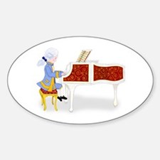 Mozart at the Pianoforte Oval Decal