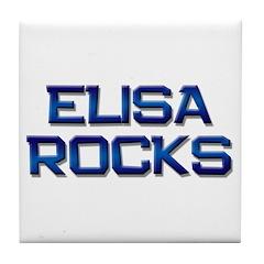 elisa rocks Tile Coaster