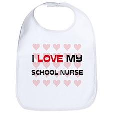 I Love My School Nurse Bib