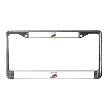Jelly Bean Junkie License Plate Frame