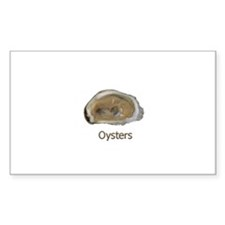 Raw Half Shell Oyster Rectangle Sticker 10 pk)