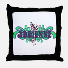 Adrienne's Butterfly Name Throw Pillow