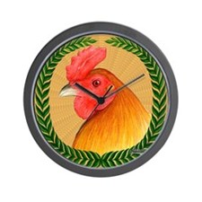 Pea Comb Gamecock Wall Clock