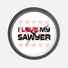 I Love My Sawyer Wall Clock