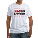 I Love My Sawyer Fitted T-Shirt