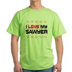 I Love My Sawyer Green T-Shirt