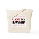 I Love My Sawyer Tote Bag