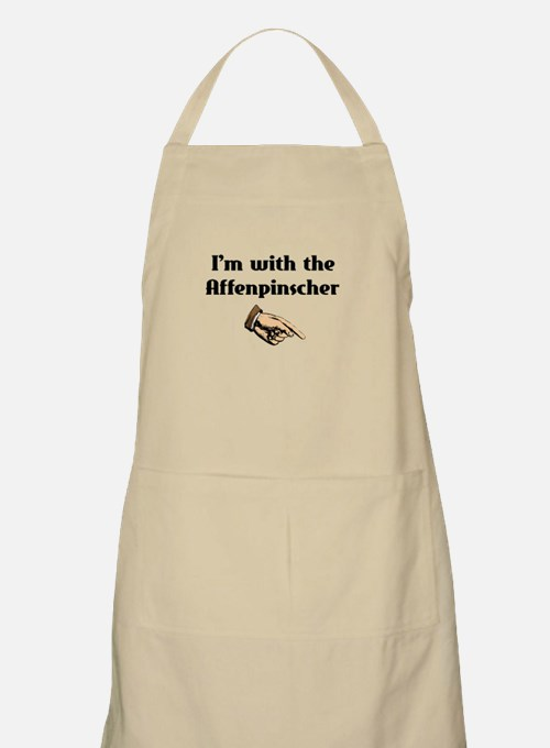 I'm with the Affenpinscher BBQ Apron